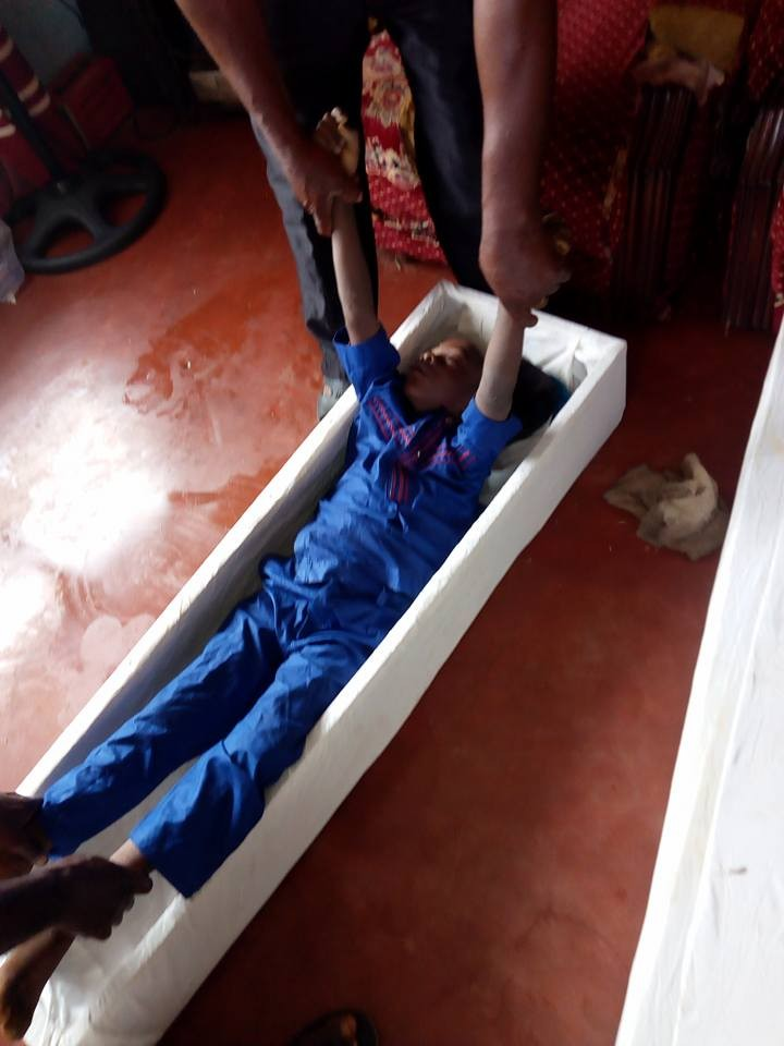 Graphic photos: Twin boys found dead inside their parent's refrigerator in Anambra