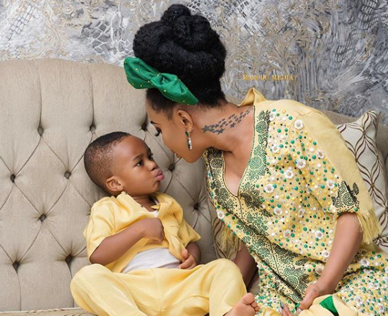 Tonto Dikeh shares adorable photos with her son, King Andre
