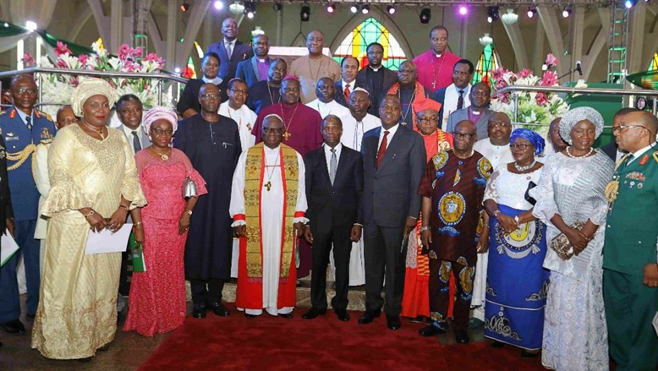 Photos: Osinbajo, Dogara, Boss Mustapha, others at the 2018 democracy day thanksgiving service