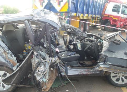 Weekend car crash leaves one dead and eight others injured in Ilorin (photos)