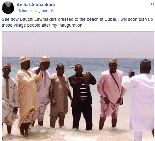Photo: See how Bauchi state lawmakers dressed to the beach in Dubai...lol