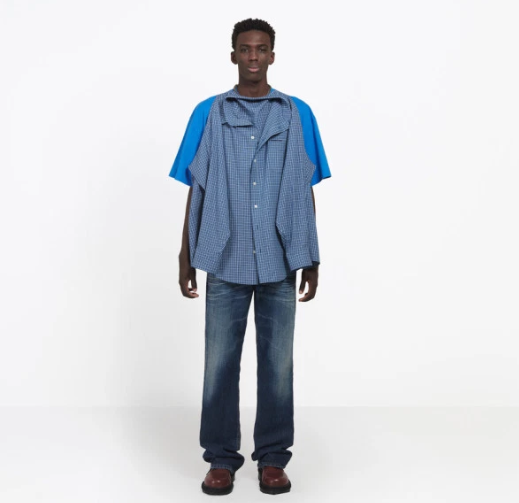ba0a24ec Fashion enthusiasts slam the new Balenciaga double T-shirt Shirt worth  ?1,000