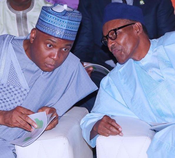Caption this photo of President Buhari and Bukola Saraki