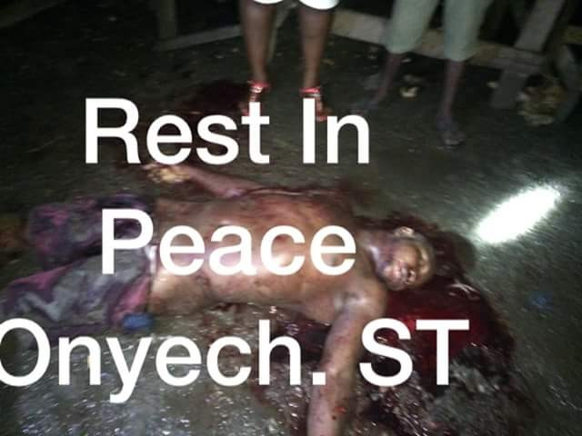 Photos: Chairman of Delta State Butchers Association, Sapele hacked to death by suspected assassins