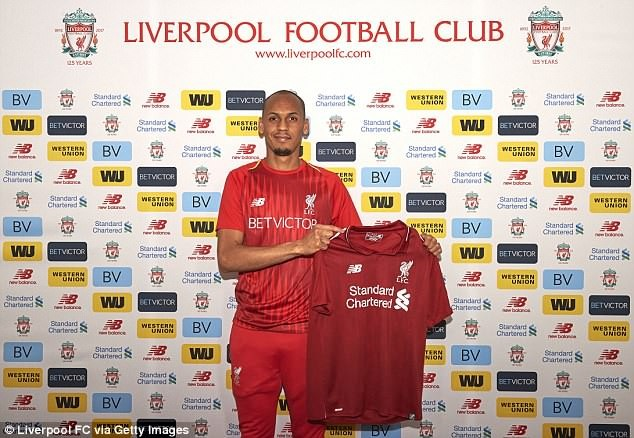 Liverpool FC signs Fabinho in ?44m deal, days after Champions League final loss (Photos)