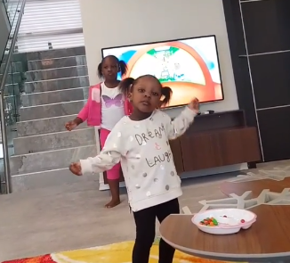 SHOCKING!!!: Timaya's daughters teach him how to dance their version of 'Shaku Shaku'