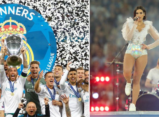 Dua Lipa, the singer who performed during Champions League, rumored to be dating Real Madrid star