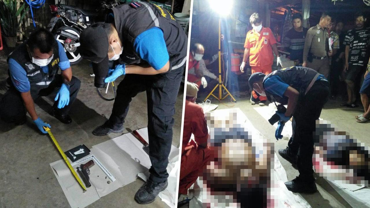 Photos: Jealous Thai husband shoots his wife then himself in apparent murder-suicide