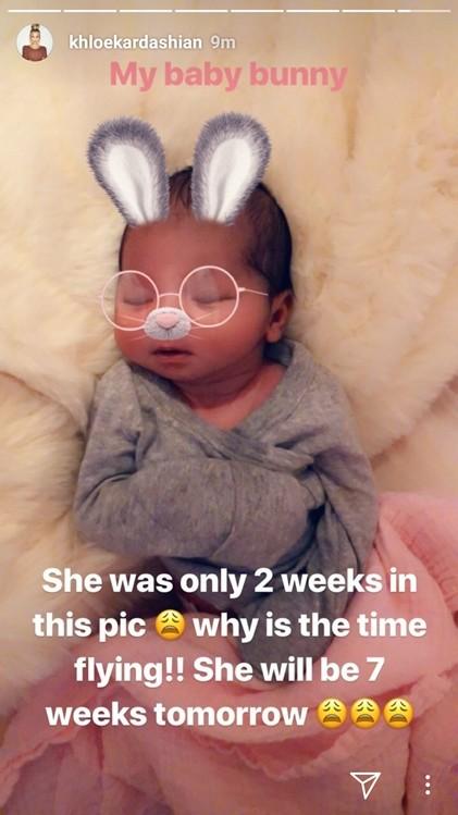 Khloe Kardashian shares adorable throwback photo of True Thompson at 2-weeks