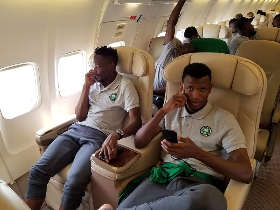 Photos: Super Eagles squad depart Nigeria for London ahead of their pre-world cup friendly match this Saturday