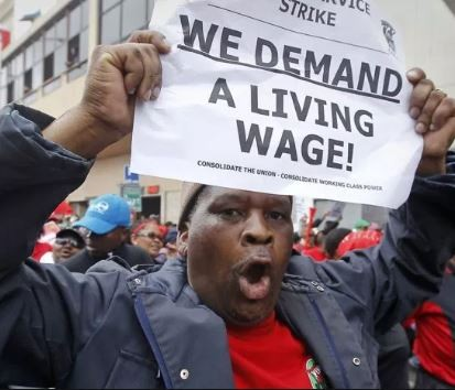 South Africans are angry as government?sets minimum wage at $278 per month almost 6 times higher than Nigeria
