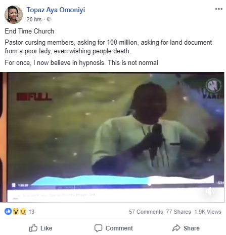Pastor curses members, asks for N100m from them, and land documents from a woman seeking miracle for her sick child