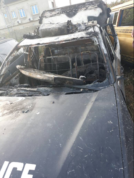 Lagos Police warn that attack on police or police property will no longer be tolerated after okada riders burn police car in revenge for colleague