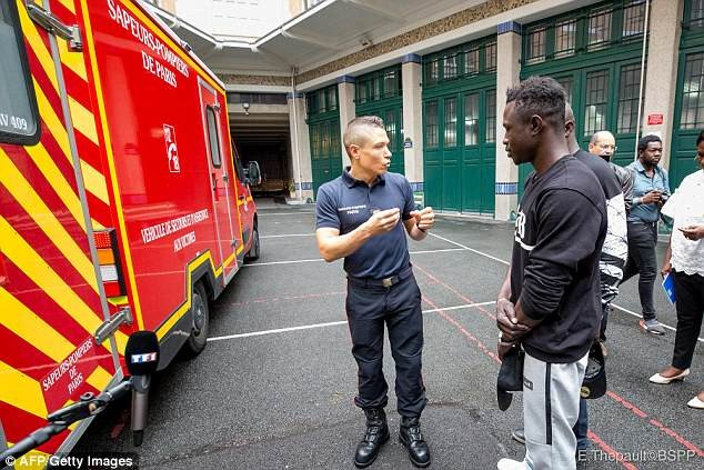 """Malian Spiderman"" who scaled building to save child in France joins the French fire brigade on a 10-month internship paying 600-euro a-month (Photos)"