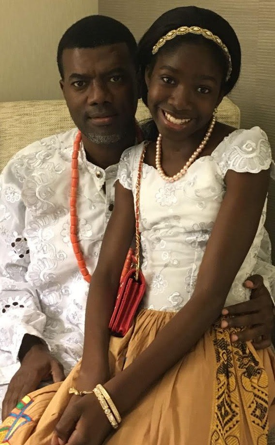 Reno Omokri sent his beautiful daughter birthday wishes as she turned 13