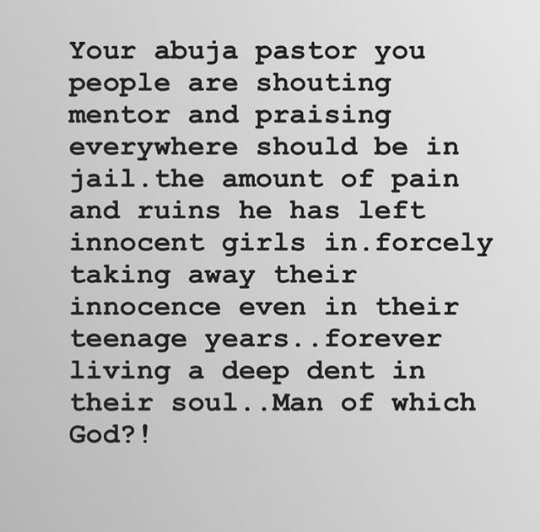 Which Abuja pastor