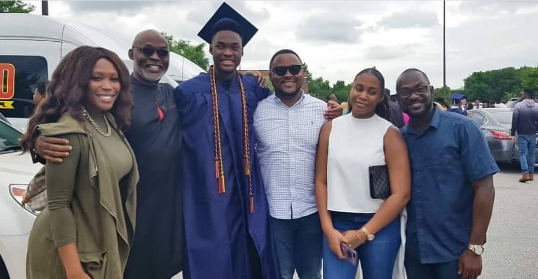 Photos: RMD and his wife, Jumobi, attend their son
