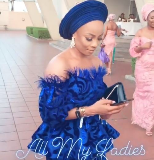 Photos: How Toke Makinwa, Gbemi, others turned up for Mocheddah and Bukunyi