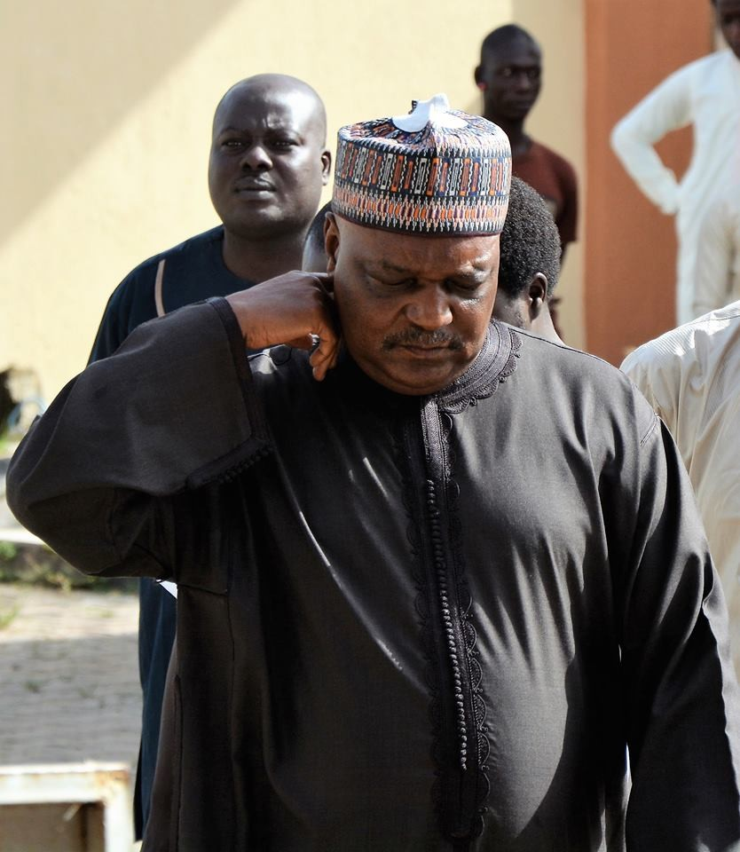 The look on ex-Taraba state governor after he was sentenced to 14 years in jail for N1.64bn fraud (photos)