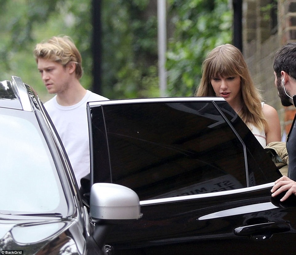 Taylor Swift and her British boyfriend Joe Alwyn make rare outing together in London (Photos)