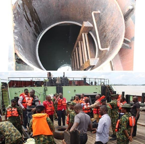 Illegal Oil Bunkering ; Nigerian Navy hands over vessel and nine suspects to EFCC