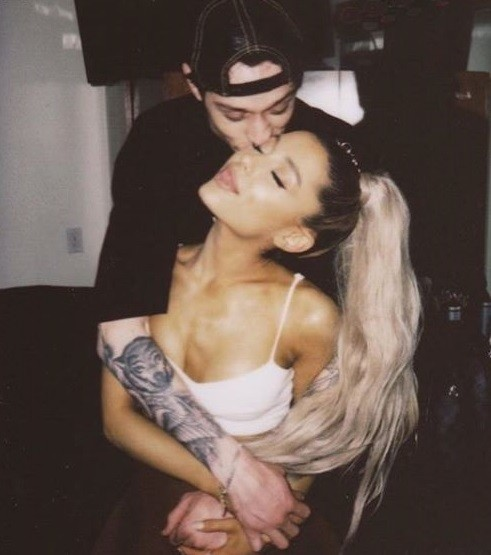 Ariana Grande confirms her relationship with Pete Davidson, shares loved-up photo