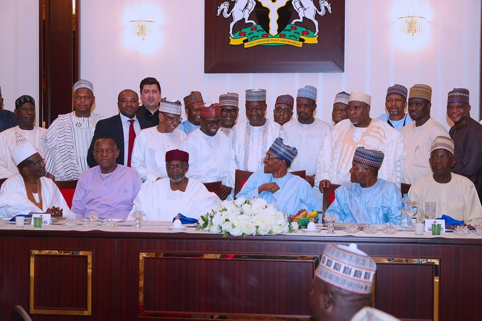 Photos: President Buhari breaks Ramadan fast with Businessmen and political leaders