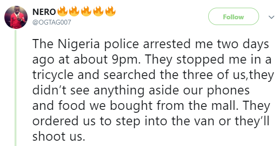 Man narrates his horrible experience with police officers in Delta state