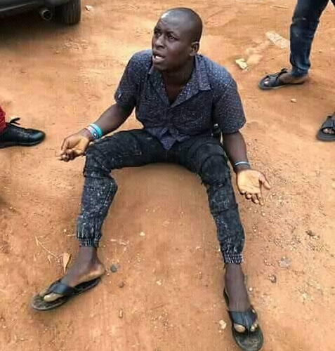 See photo of man who allegedly hacked his boss to death in Delta state. He was nabbed in Ghana