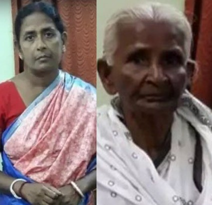 Hopelessly wicked woman filmed beating her aged mother-in-law for plucking flowers without her permission(video)