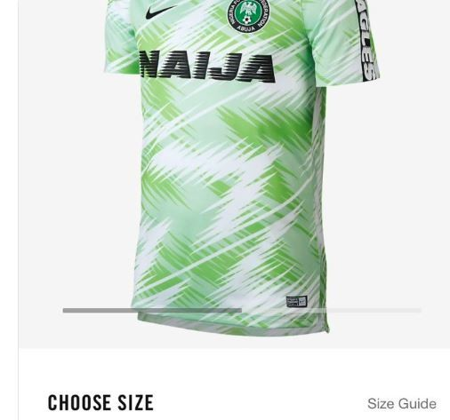 7fdc334f2  All Nigeria jerseys have now sold out and there are no current plans for a  restock  - Nike