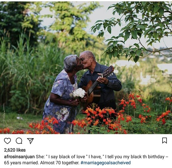 Couple who have been married for 65 years share a kiss in beautiful photo