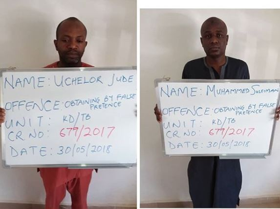Two fraudsters arraigned for?10Million Naira scam using 18 different bank accounts to dupe people