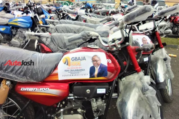 Femi Gbajabiamila donates 30 new buses, 160 motorcycles, 25 tricycles to his constituents