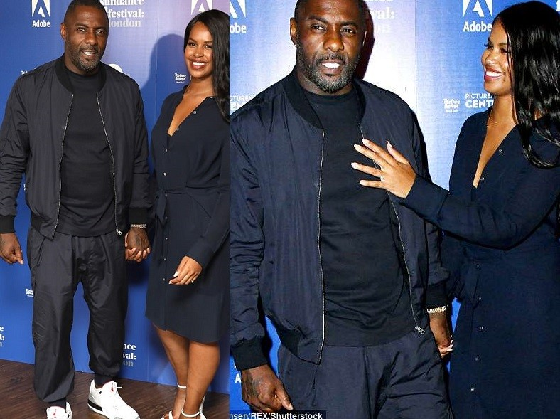 Idris Elba and fianc?e Sabrina Dhowre step out in matching ensembles for his Yardie screening at Sundance Film Festival (Photos)