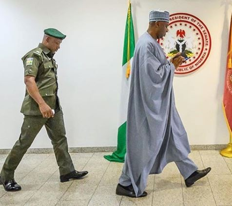 ?DSS withdraws operatives from Senate President Bukola Saraki and deputy, Yakubu?Dogara