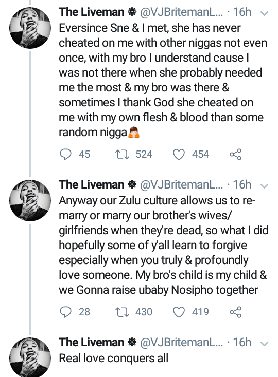 South African man forgives his fiancee after she was impregnated by his younger brother... See his reason