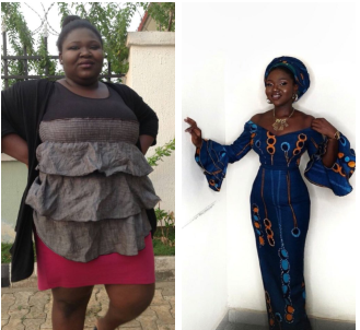 Wow! Nigerian lady shares her amazing weight loss journey
