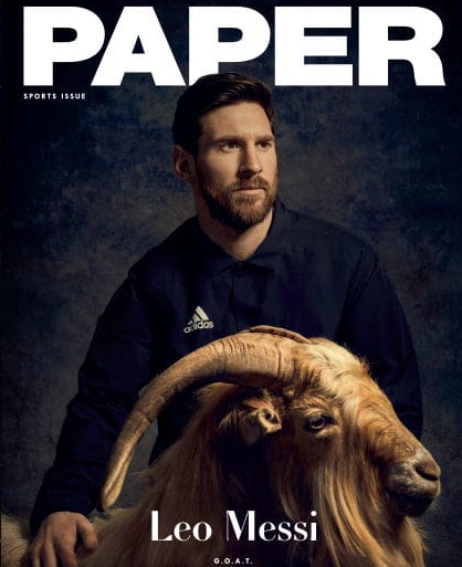 Ecstasy. Lionel Messi poses with goat while saying he is not the G.O.A.T