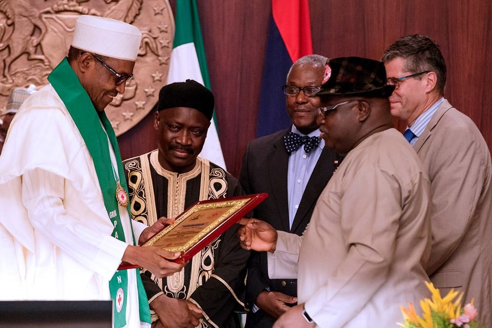 Photos:?President Buhari installed as Grand Patron of the Nigerian Red Cross Society