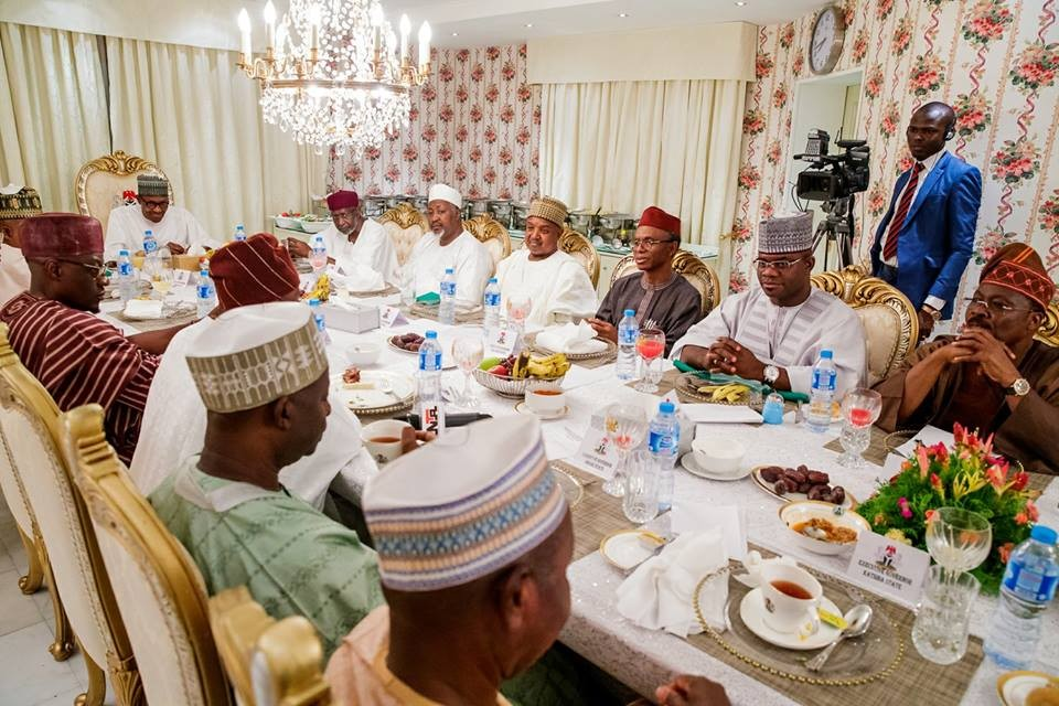 Photos: President Buhari breaks ramadan fast with some state governors
