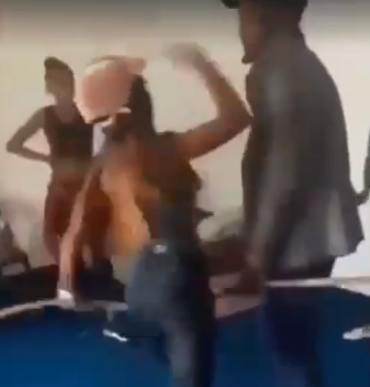 Watch trending video of a lady assaulting her boyfriend because he cheated on her and got another lady pregnant