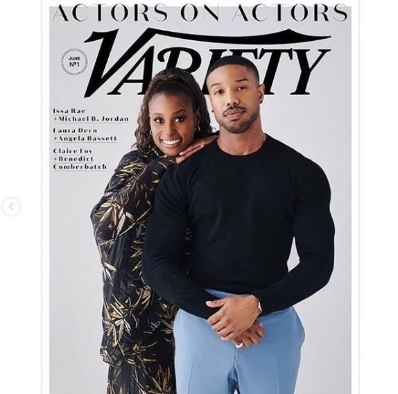 Black Panther star Michael B Jordan and actress Issa Rae cover