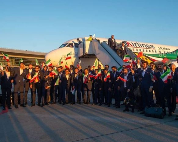 Photo: Iran becomes the first team to arrive in Russia for the 2018 World Cup