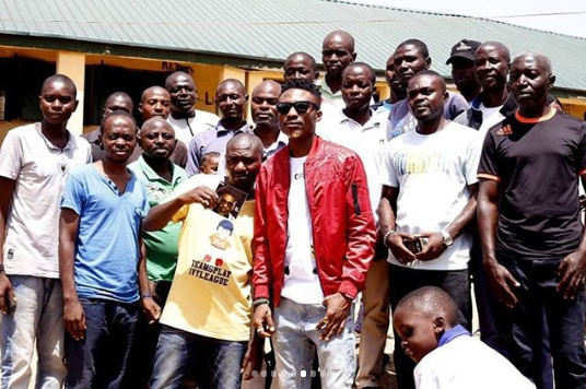 Efe of Big Brother Naija donates desks to two primary schools in Jos (photos)