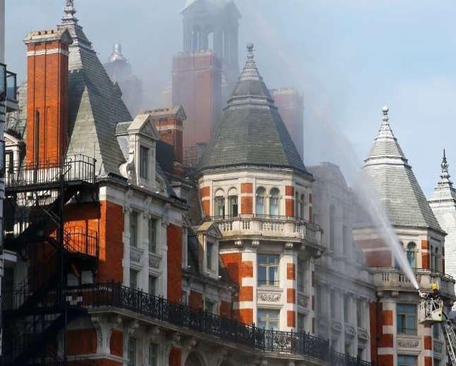 Photos: Fire guts Mandarin Oriental hotel in Central London