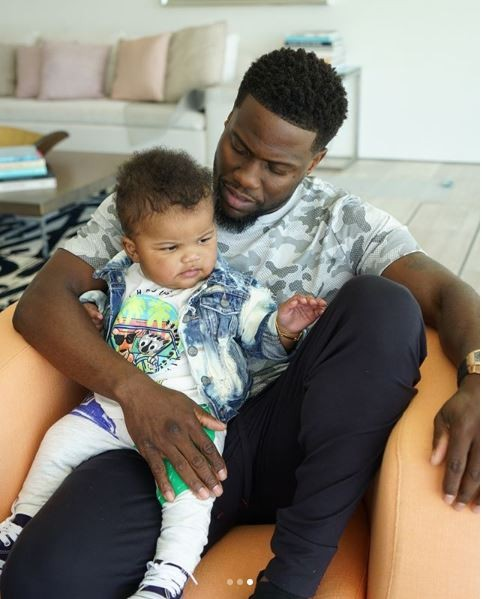 Cute new photos of Kevin Hart with his wife Eniko and son Kenzo?