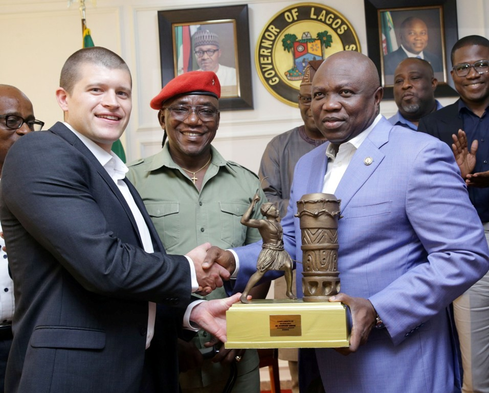 Photos: GOV. Ambode receives Minister of Youth and Sports with international Paralympics committee at Lagos House, Alausa, Ikeja