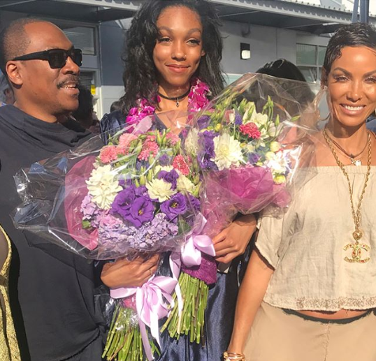 Eddie Murphy and Nicole Murphy reunite for their daughter
