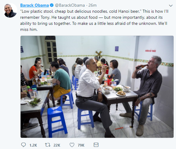 Image result for anthony bourdain obama